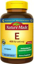 Nature Made Vitamin E 180 mg (400 IU) dl-Alpha Softgels 300.0ea