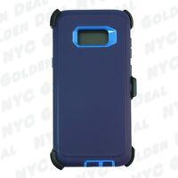 For Samsung Galaxy S8 Rugged Defender Case w/ Clip Fits Otterbox Navy