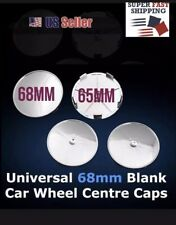 4x68mm Universal Chrome Wheel Tire Center Blank Replacement Hub Caps Cover