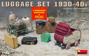 MINIART 35582 - 1/32 Luggagee Set 1930-1940s Scale Model Kit Accessories
