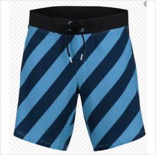 Zoot - Men's 2 in 1 Board Short 8 inch - Blue Stripe - Medium