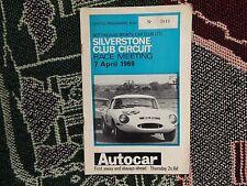 Programa 1969 Silverstone 7/4/69 - Reunión de circuito Club-e Funda Tipo Jaguar
