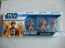 Star Wars The Legacy Collection Rebel Pilots 2 Evolutions figure pack BNIB