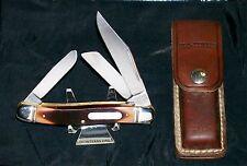 "Schrade 858OT Knife & Original Sheath ""Old Timer Lumberjack"" 4-9/16"" Closed Rare"