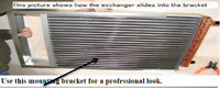 Water to Air Heat Exchanger Installation Kit