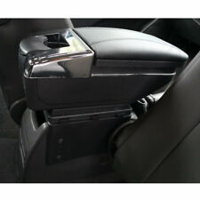 Universal Car Seat Center Box Armrest Storage Case Black PU Leather Seaming 1pcs
