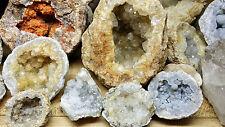 6+LBS Break Your Own Geodes Unopened Keokuk Raw Crystal Quartz Geode