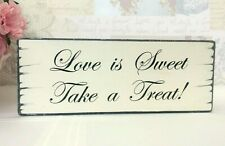 Sweet Table Wedding Sign Candy Bar LOVE IS SWEET Take a Treat Shabby Vintage