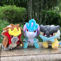 3X Entei Suicune Raikou Pokemon Center Go Plush Toy Stuffed Animal Poke Doll