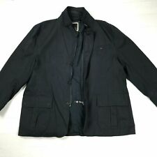 """FYORD Spanish Mens Casual Navy Jacket Size XXL Chest 46"""" Patched Elbows"""