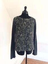 Women's Patterned Lace Effect Grey Sweater/Jumper By TOPSHOP. Sz 14.