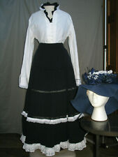 Victorian Womens Costume Edwardian Dress Civil War Style Reenactment Old West