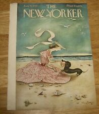 The New Yorker August 4, 1945 *classic* Mary Petty Cover Only dachshund at beach