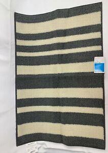 ROOM ESSENTIALS 2' x 3' Accent Rug NWT Good Fashion Stripe Charcoal