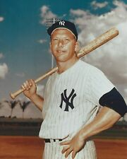 MICKEY MANTLE 8X10 PHOTO NEW YORK YANKEES NY BASEBALL PICTURE 3/4 COLOR CLOSE UP