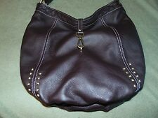 AVORIO THE ORIGINAL BROWN LEATHER HANDBAG - MADE IT ITALY - FREE SHIPPING