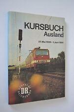 DR Kursbuch Ausland Jahresfahrplan 1990/91