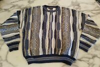 Roundtree & Yorke Coogi Sweater Sz L Acrylic Blend Coogi Style Cosby Multicolor