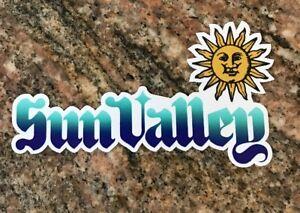 Sun Valley Ski Resort Sticker - Skiing Snowboard Mountain Sports Idaho