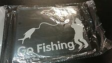 SALE- 1 X NEW CAR STICKER GO FISHING FOR OUTDOOR CAMPING 4X4 4WD AWD