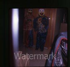1960s 35mm Photo slide Boys in  Halloween Costume  Donald Duck and Clown #2