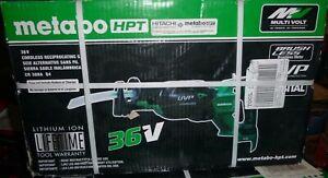 Brand New Metabo HPT CR36DAQ4M -MultiVolt 36V Cordless Reciprocating Saw