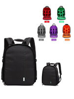 DSLR Camera Backpack Shoulder Bag Case Photograph Waterproof For Nikon Canon