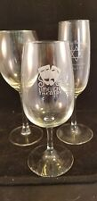 unique wine glasses group of 3 different