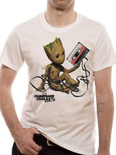 Guardians of the Galaxy Baby Groot Tape Tangled Marvel Vol 2 White Mens T-shirt