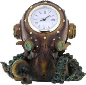 Nemesis Now Clocktopus 16.cm Bronze Steampunk Standing Mantle Clock Gothic Decor