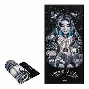 DGA Native American Mother Earth Alaska Wildlife Fiber Reactive Beach/Bath Towel