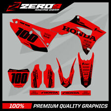 HONDA CR125-250 2004-2007 CRF250-450 2004-2020 MOTOCROSS MX GRAPHICS KIT BLOCK