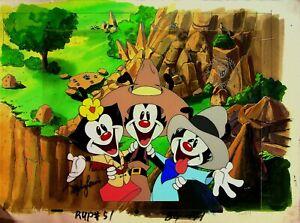 ANIMANIACS Signed STEPHEN LEWIS Studio SERICEL Animation Cel 1993 #SL