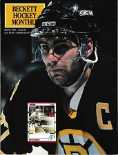 Beckett Hockey Magazine, Issue #5 March 1991 Ray Bourque On Cover