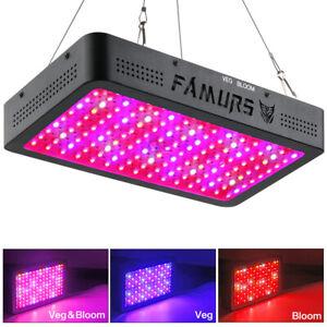 FAMURS 1500W Triple Chips LED Grow Light Full Spectrum with Veg Bloom Switch