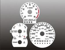 1995-1999 Chevrolet Cavalier Z24 AUTO Dash Cluster White Face Gauges