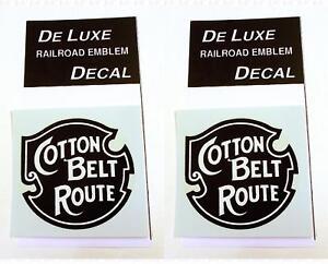 DeLuxe By Virnex Decals Black White Cotton Belt SSW Herald D-206 -Two Decals-