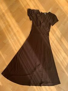 DKNY Dark Brown Fit & Flare A Line  Dress S UK 10