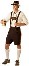Lederhosen German Oktoberfest Adult Beer Bavarian Guy Fancy Dress Costume Large
