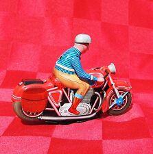 Jouet mécanique en tôle. MOTORBIKE rouge - Origine Chine 13 cm. NEUF