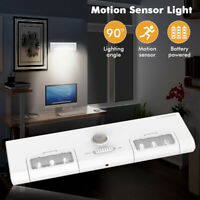AUG 6 LED Battery Powered 90° PIR Motion Sensor Cabinet Light Closet Night Lamp
