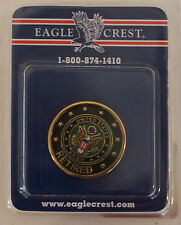"US Army Seal Retired Metal pin Military ""Eagle Crest Brand"" Lapel Hat Jacket Tac"