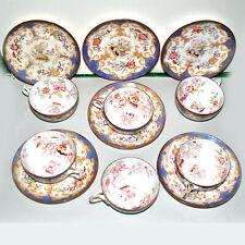 Service à thé - Série de 6 tasses MINTON en Porcelaine Anglaise Peint Main 19e s