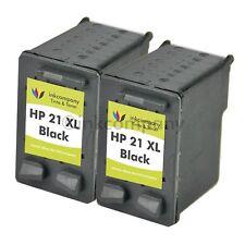 2 Patronen HP21 XL Officejet Deskjet D2340 D2345 F2280 F2290 F2224 Fax 1250XL