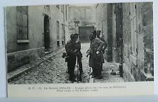 Postcard. La Guerre 1914-18. Carte Postale Allied Troops in the Soissons streets