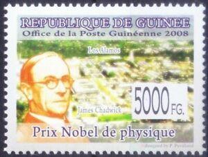 Guinea 2008 MNH, James Chadwick Nobel Physics winner Discovered Neutron