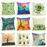 "Linen Cactus Cushion Cover Home Decorative Palm Leaf Waist Throw Pillow Case 18"""