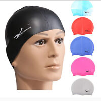 Durable Flexible Sporty Latex Swimming Swim Cap Bathing Hat Unise Color HOT