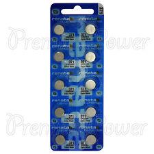 10 x Renata 371 Silver oxide batteries 1.55V SR920SW Watch SR69 EXP:2019