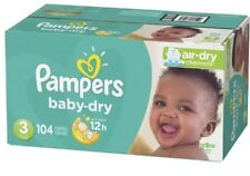 Pampers Baby Dry Diapers, Size 3, 104 Count, Super Pack